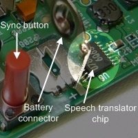Wiimote speech translator chip