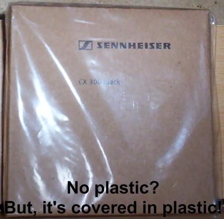In a plastic bag