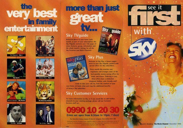 Sky 1996 pamphlet