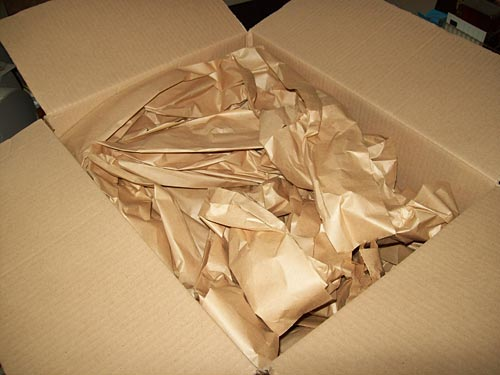 2. Lots of brown paper cushioning