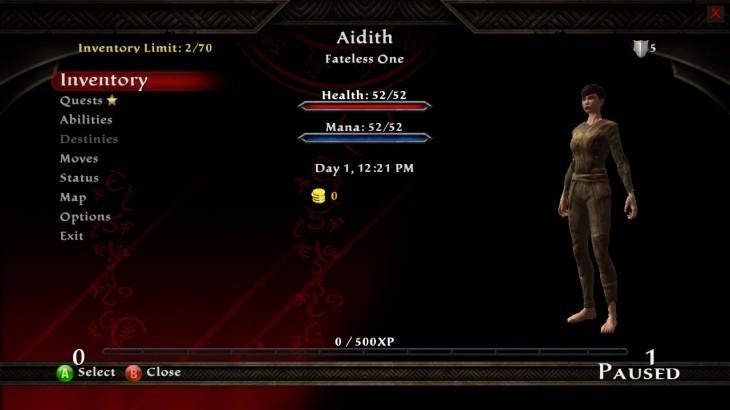 Reckoning Character Screen
