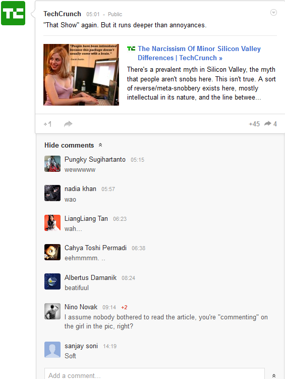 Google+ Comments image